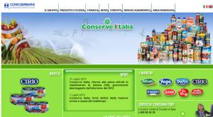 home de la empresa conserve italia