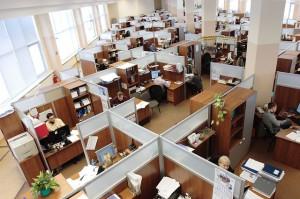 oficina que utiliza un sistema de gestion empresarial